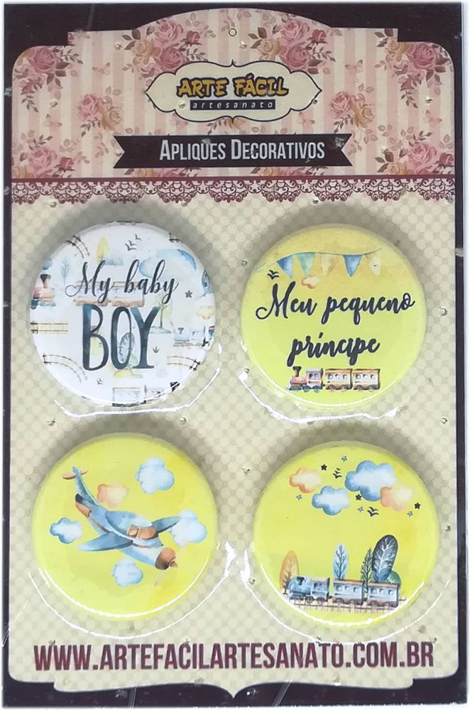 BT-008 - Bottons sem alfinete - Baby Boy - Arte Fácil