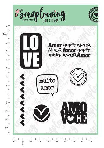 Carimbo Muito Amor - Scraplooving (C108)