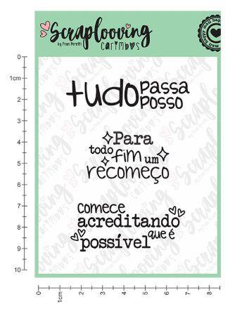 Carimbo Cartela Tudo Posso - Scraplooving (C114)