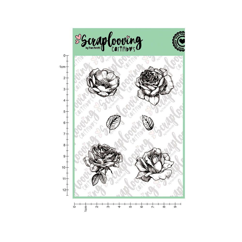 Carimbo Cartela Florais Diversos - Scraplooving (C154)