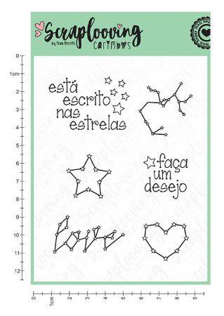 Carimbo Cartela Escrito nas Estrelas - Scraplooving (C168)