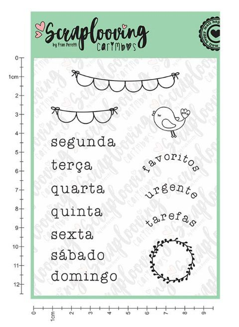 Carimbo Cartela Bujo 15 - Scraplooving (C244)