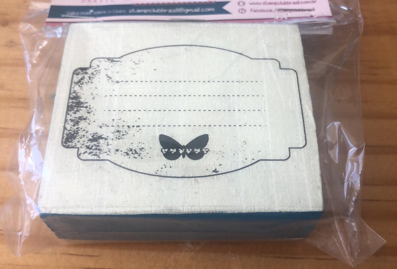 Carimbo Journaling Borboleta - Juju Scrapbook (CA1007)