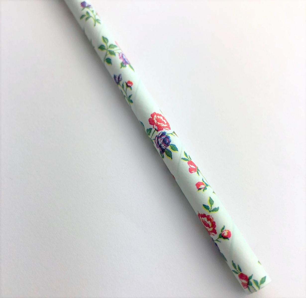 Canudo de papel - Floral 1 (CP-17)