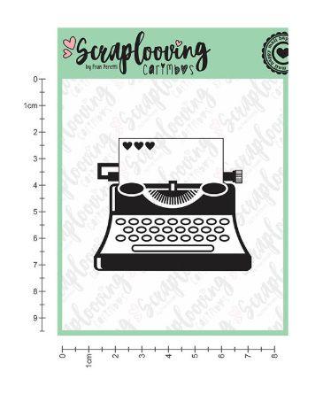 Carimbo Máquina de Escrever - Scraplooving (1227)