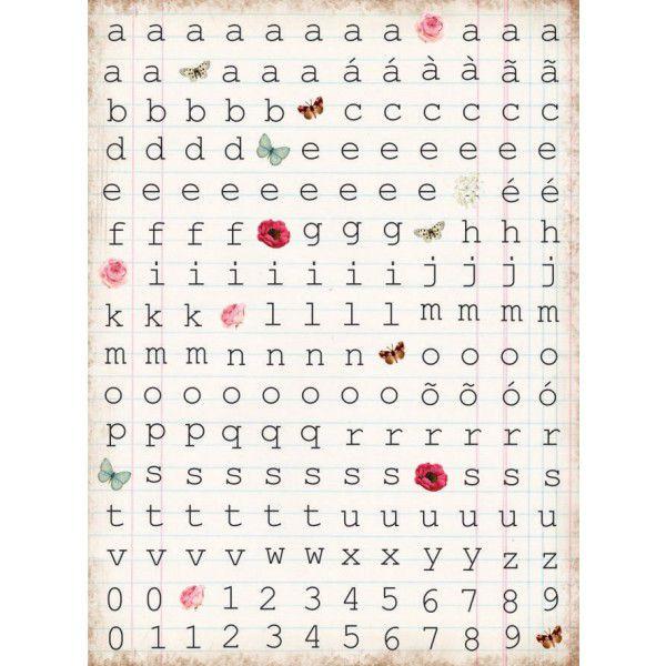 Cartela Adesivo Journaling Alfabeto - Coleção Minhas Memórias - Dany Peres (CDP001)