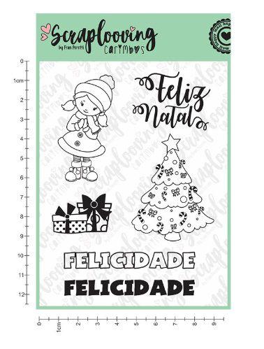Cartela Carimbo Feliz Natal (C85) - Scraplooving