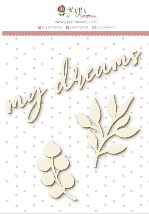 Cartela de enfeite My Dreams - Coleção Shabby Dreams - Juju Scrapbook (CEJJ001)