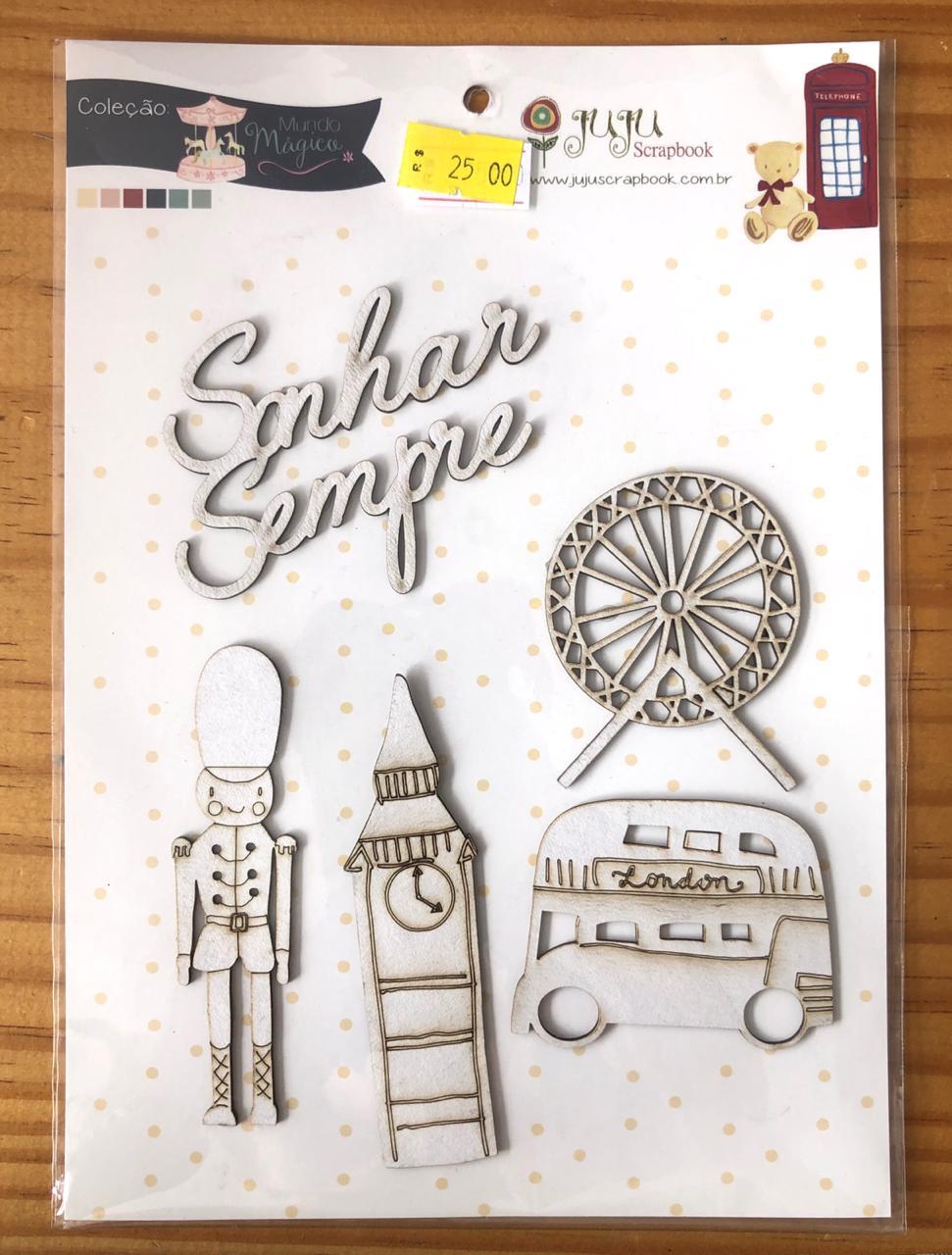 Cartela de Enfeites Mundo Mágico - Juju Scrapbook (CEJJ003)