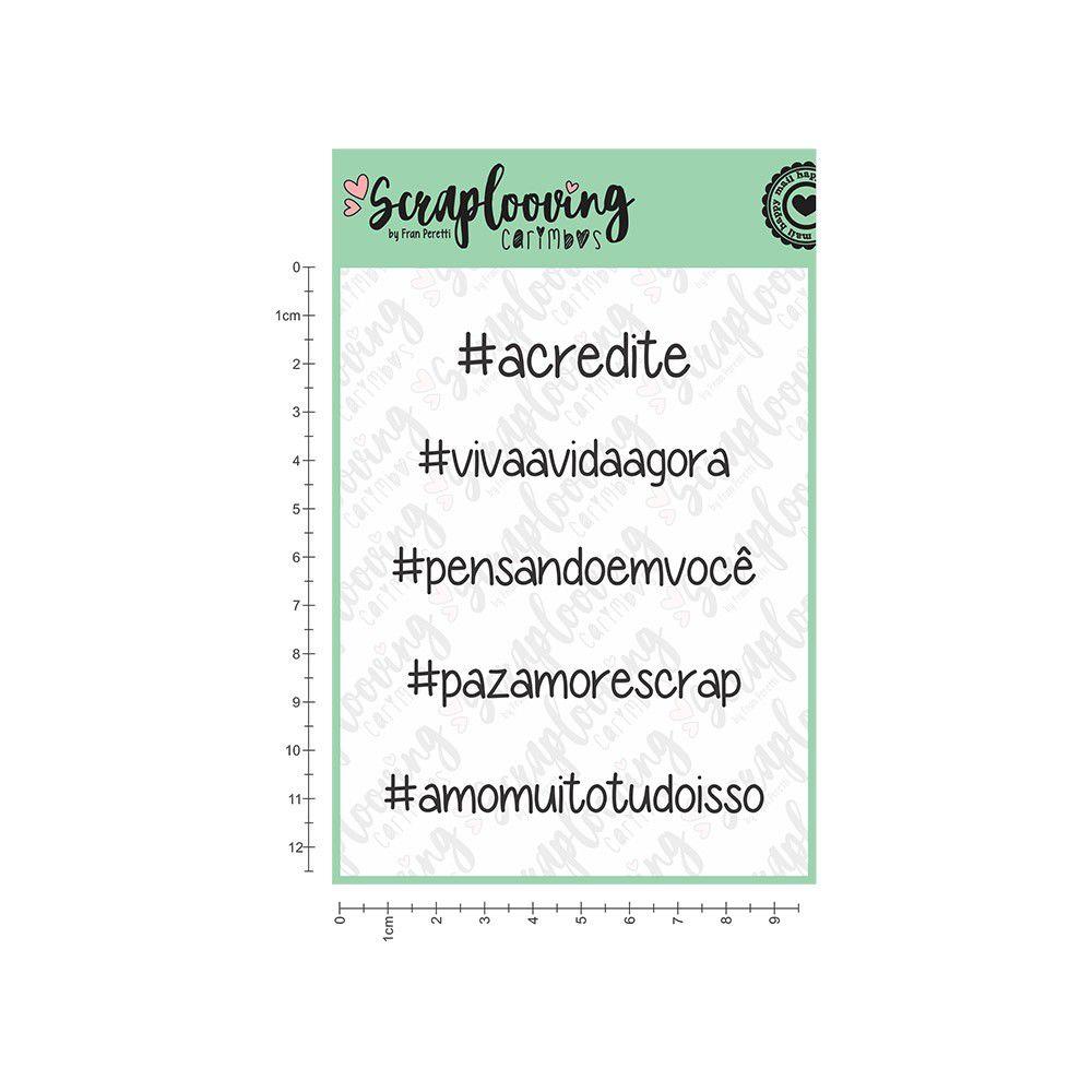 Carimbo Hashtags 03 - Scraplooving (C31)