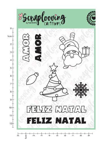 Carimbo Natal e Amor - Scraplooving (C84)