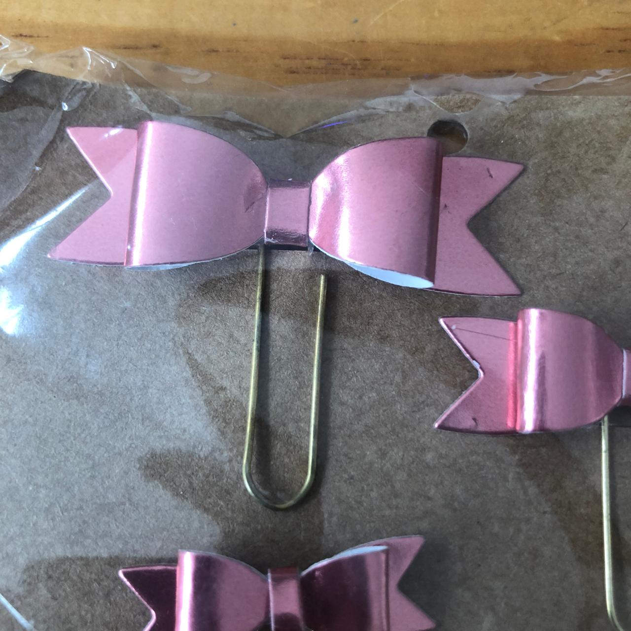 Clips Laço Lamicote Rosa (CP002)