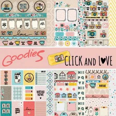 Kit Papéis Coleção Click and Love - Goodies