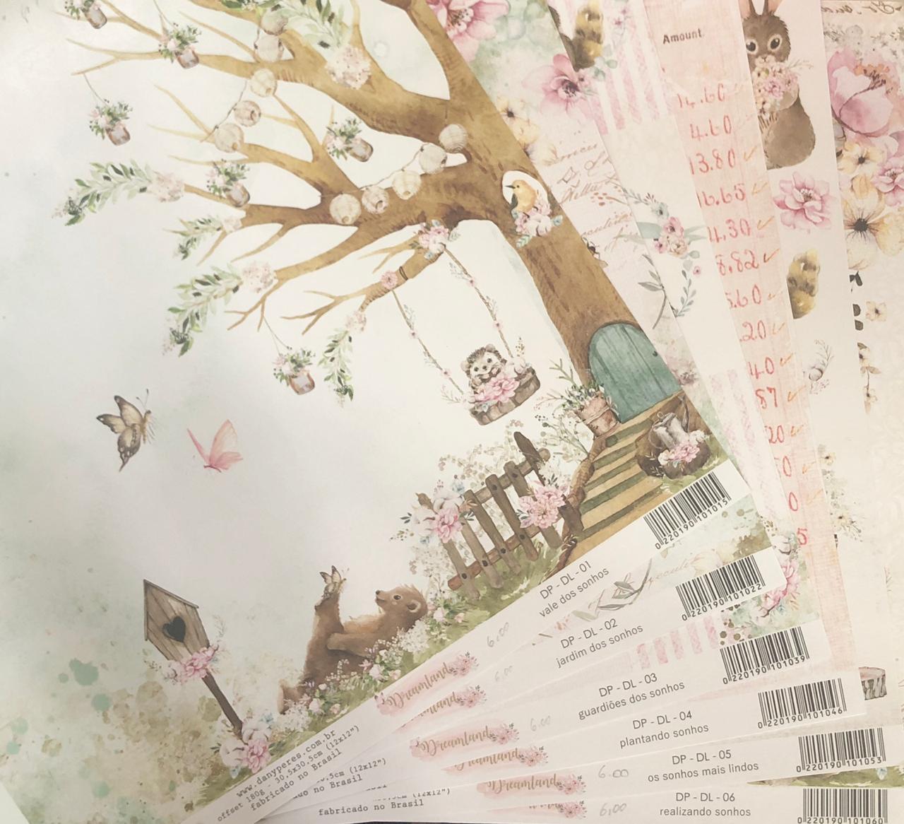 Kit Papéis Coleção Dreamland (6 Papéis)  - Dany Peres