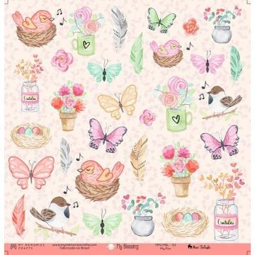 Kit Papéis Coleção My Blessing - My Memories Crafts