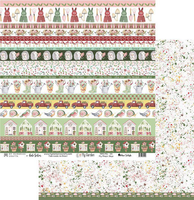 Kit Papéis Coleção My Garden - My Memories Crafts