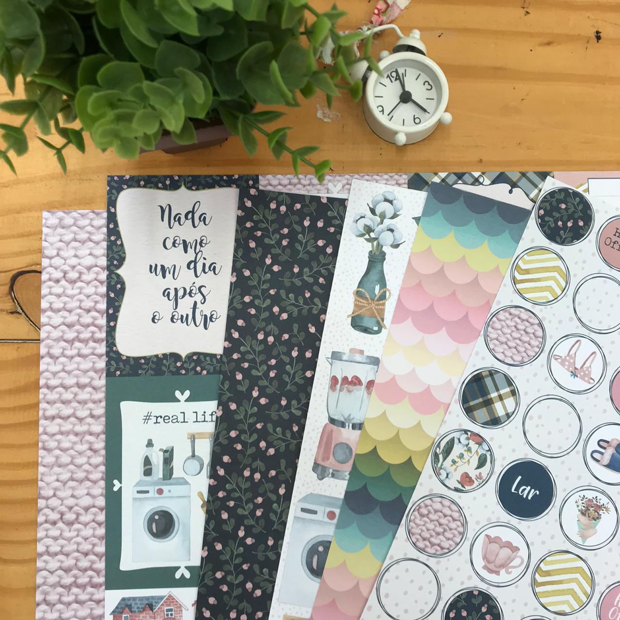 Kit Papéis Coleção My Home - My Memories Crafts