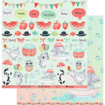 Kit Papéis Coleção My Little Big Love - My Memories Crafts