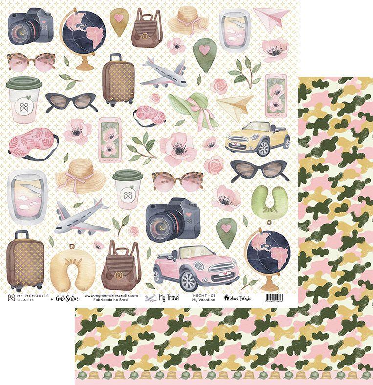 Kit Papéis Coleção My Travel - My Memories Crafts
