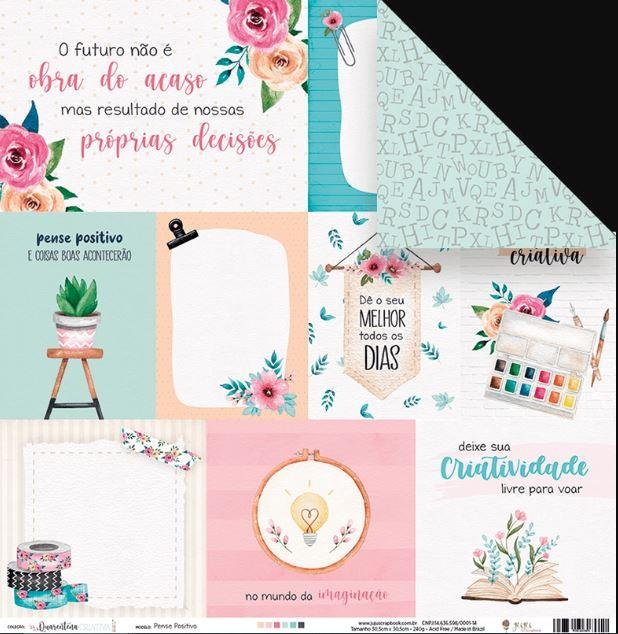 Kit de Papéis Coleção Quarentena Criativa - Juju Scrapbook