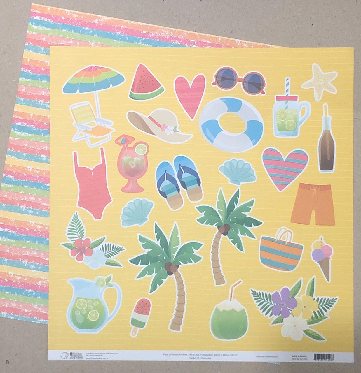 Kit de Papéis Coleção Verão 20 - Oficina do Papel