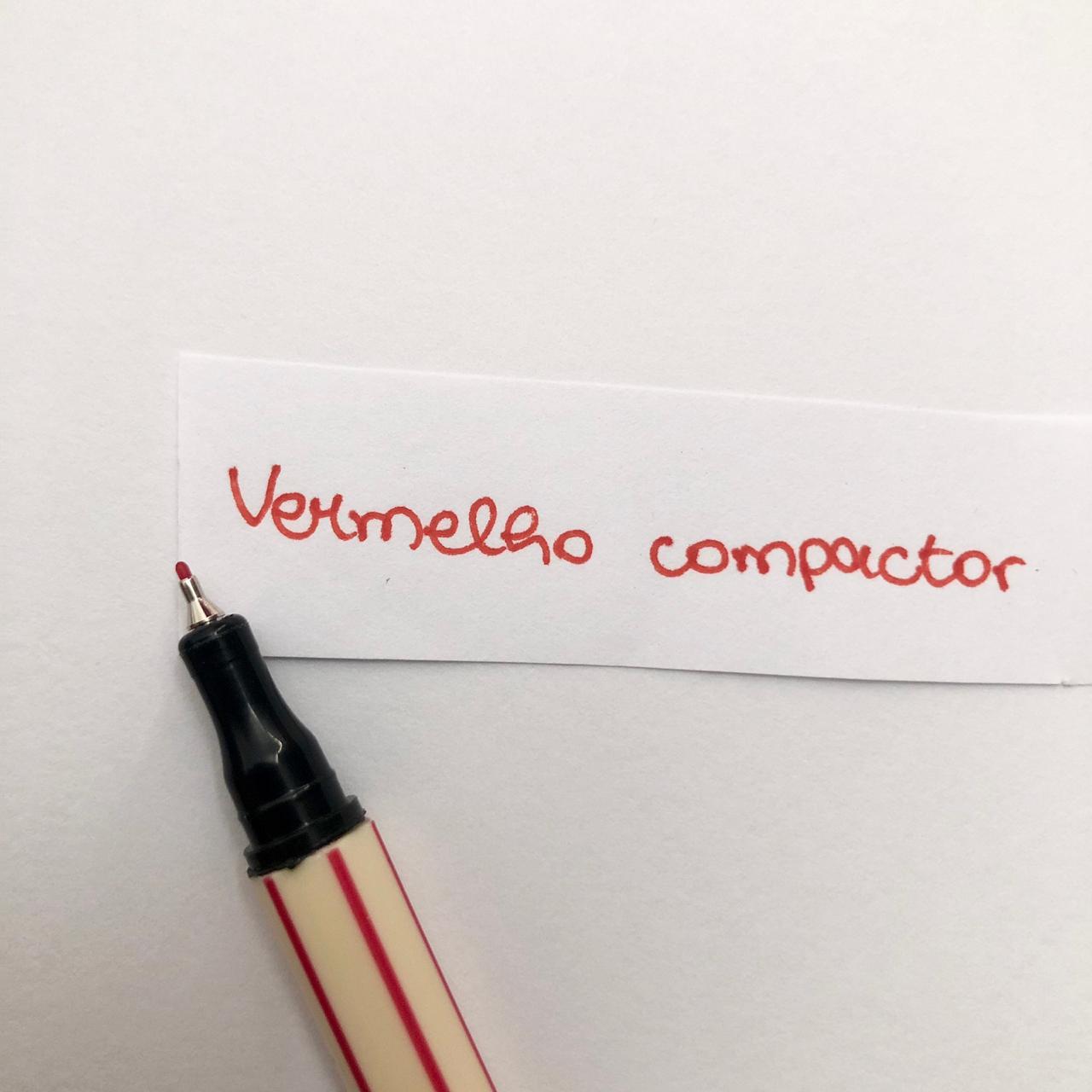 Caneta Compactor 0,4 - Vermelho (COMP02)