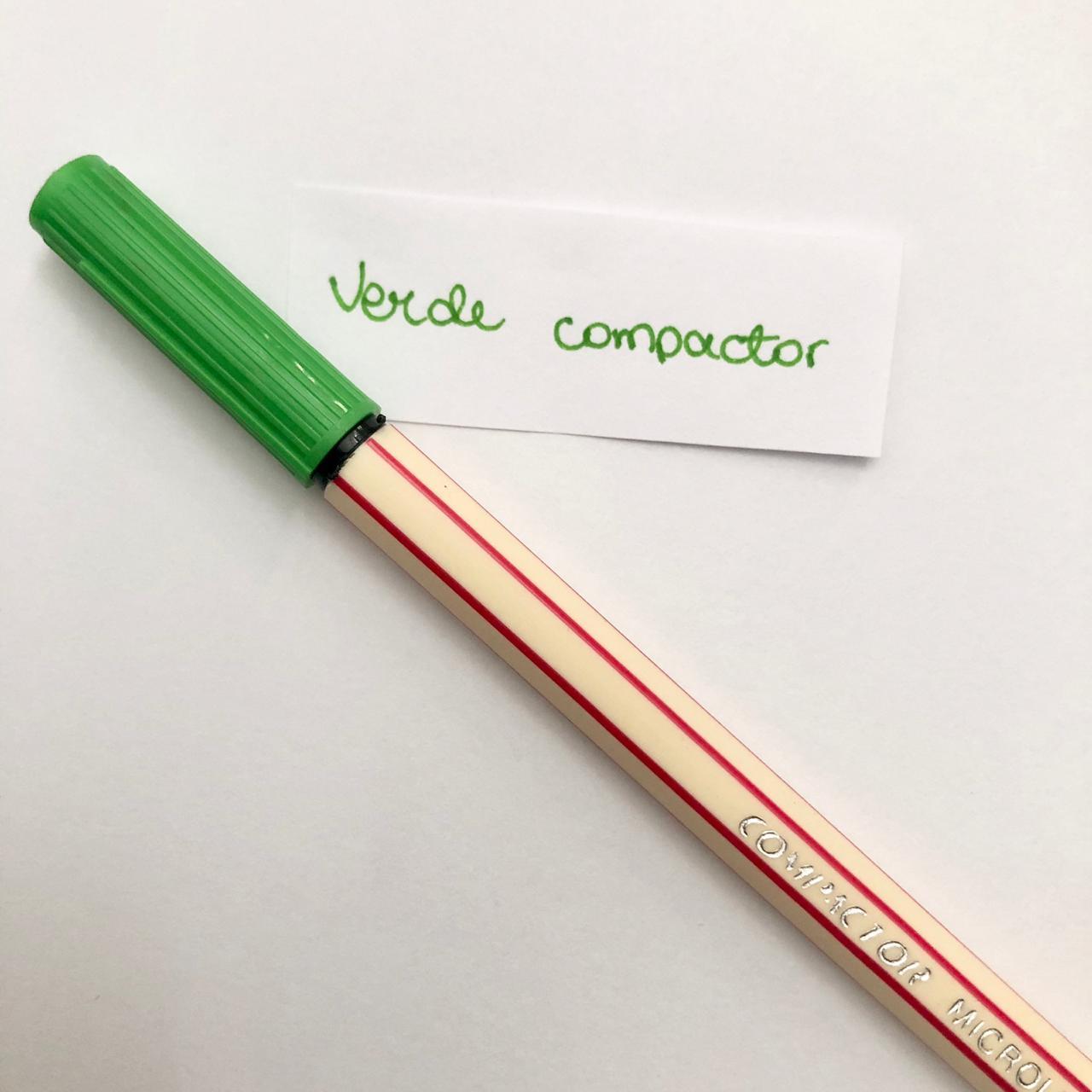 Caneta Compactor 0,4 - Verde (COMP06)