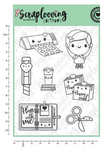 Carimbo Cute Planner 02 - Scraplooving (C80)