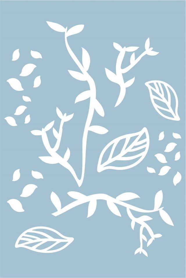 DP-FB-11 - Placa para Stencil Outono - Coleção Fábula - Dany Peres