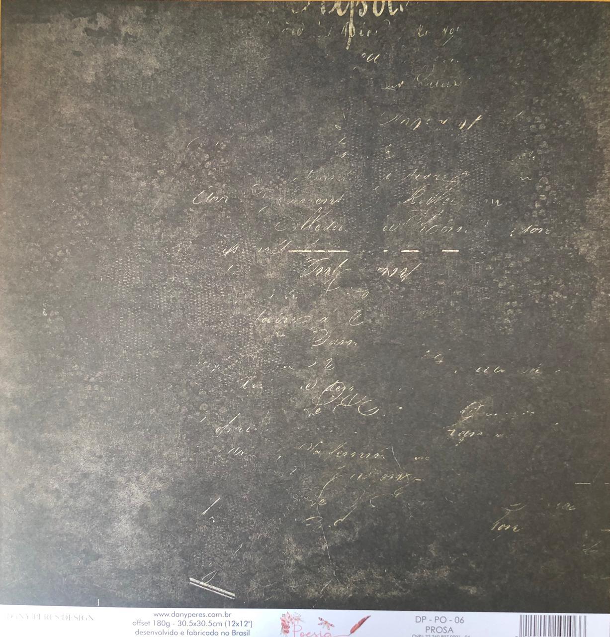 Papel Scrap - Prosa - Coleção Poesia - Dany Peres (DP-PO-06)