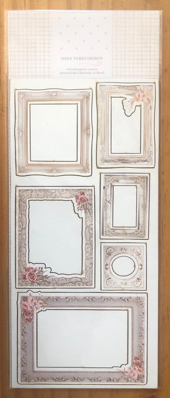Chipboards Estampados Poesia - Coleção Poesia - Dany Peres (DP-PO-15)