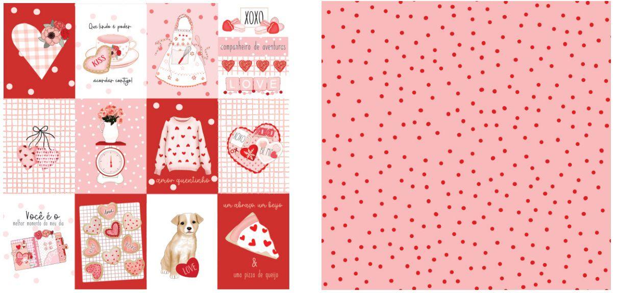 Papel Scrap - Mensagem pra Você - Coleção Sweet Love - Dany Peres (DP-SL-04)