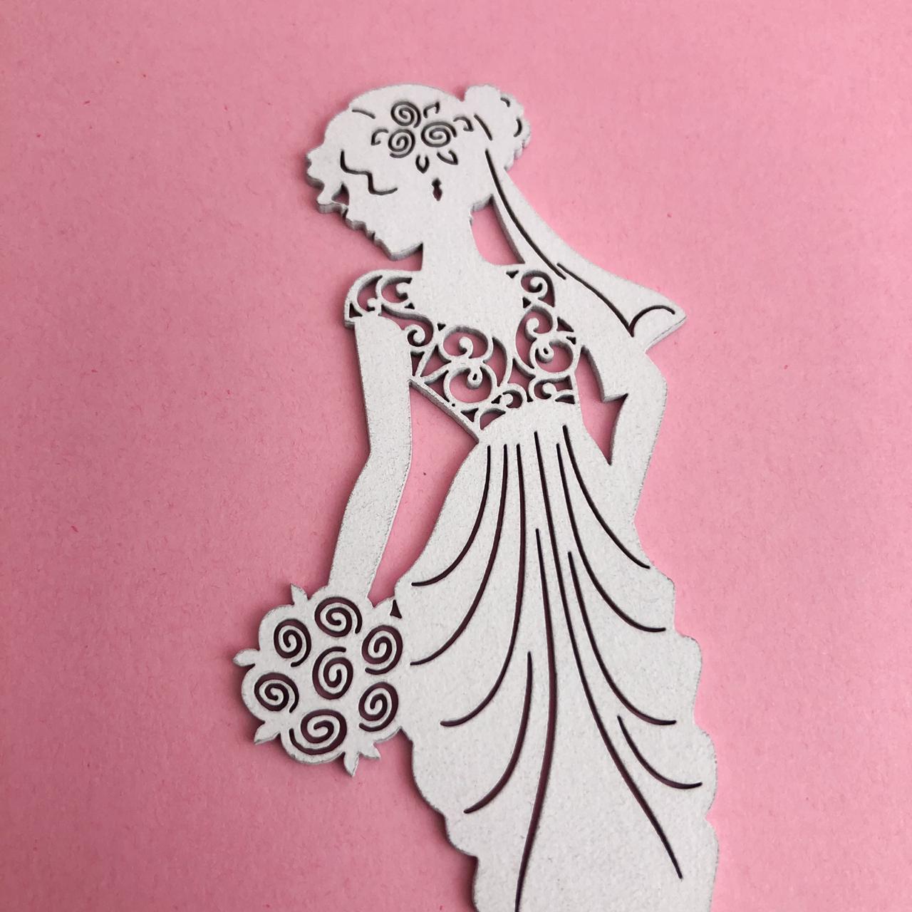 Enfeite Princess bride branco - BG Crafts (BG02)