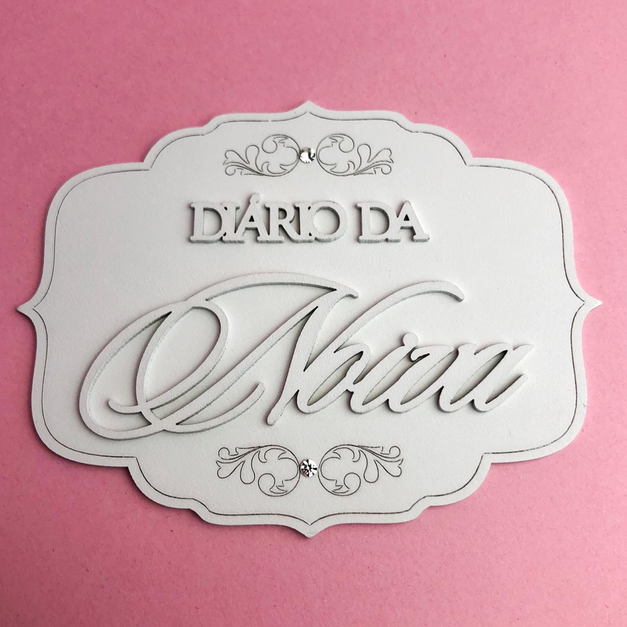 Enfeite Tag Diário da noiva - BG Crafts (BG12)