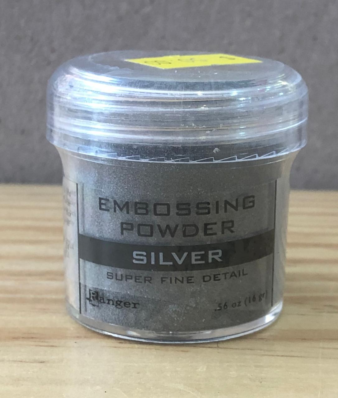 EPJ37415 - Pó Artesanal - Basics Embossing Powders 1 oz. Jar - Super Fine Silver