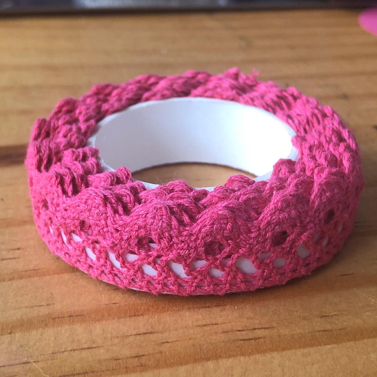 Fita Adesiva Decorativa Rendada - Pink - Art e Montagem (FA05-4)