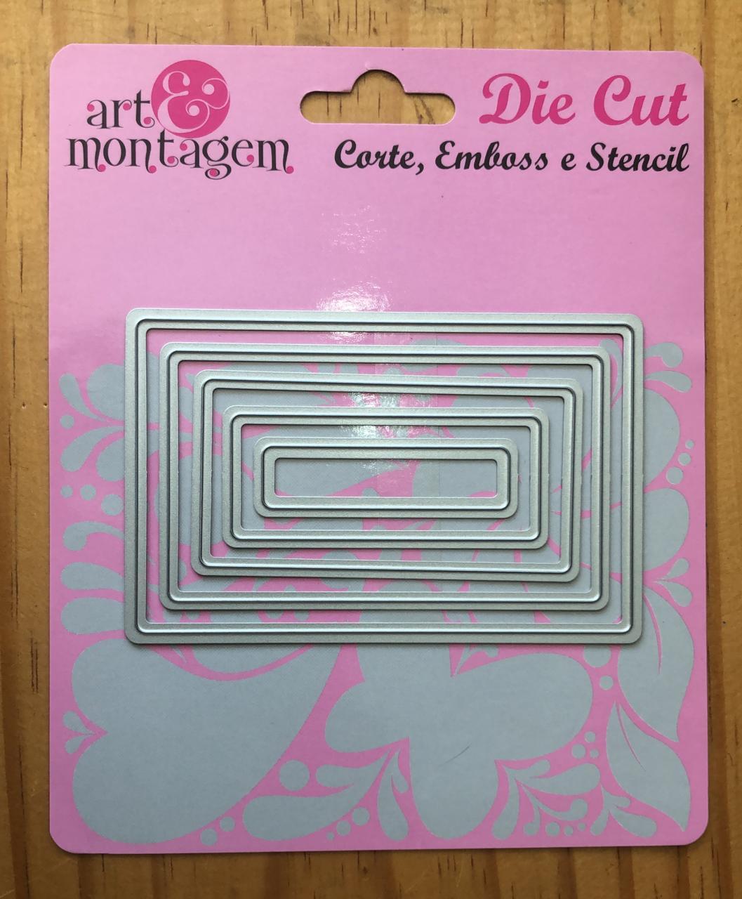 Faca de Corte - Retângulos - Art e Montagem (FAC028)