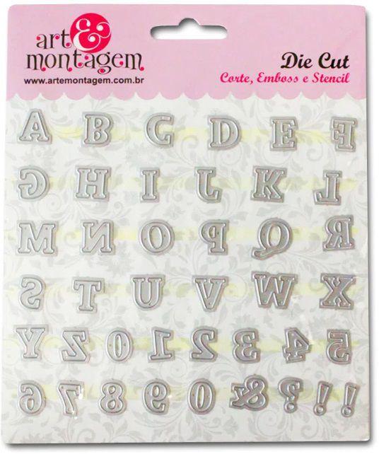 FAC061 - Faca de Corte - Alfabeto e Números - Art e Montagem