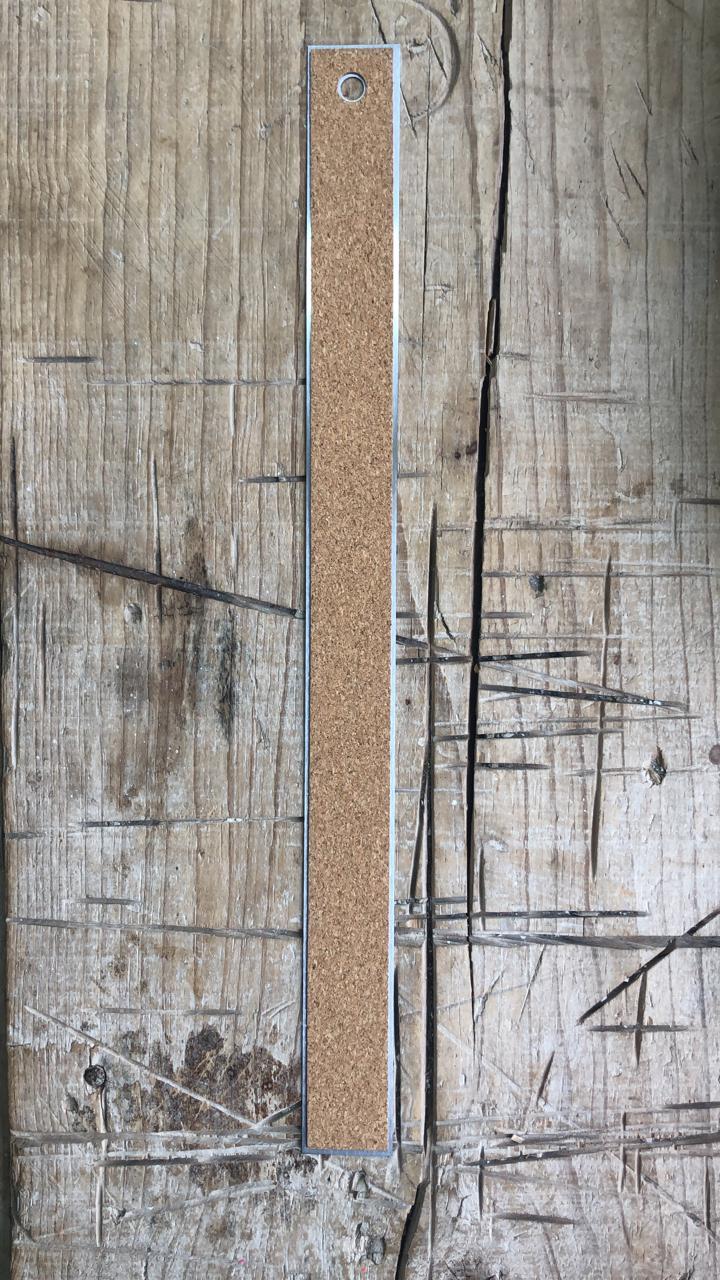 FES007 - Régua Metal Antiderrapante 38 cm - Art e Montagem