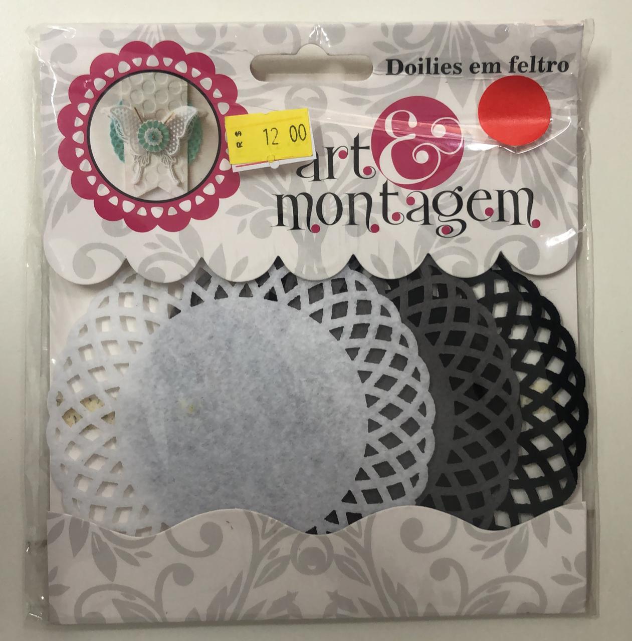 Doilies em Feltro - Art e Montagem (FL015)