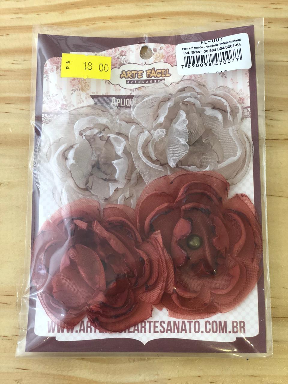 Flor em Tecido - Arte Fácil (FL-007)
