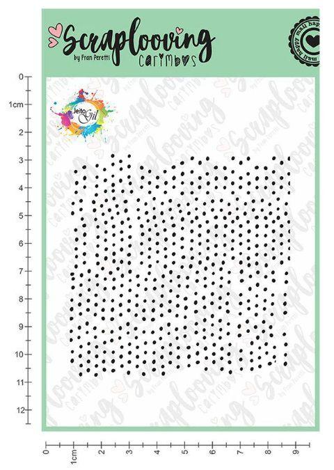 Carimbo Cartela Jeito Gil Textura Pontinhos - Scraplooving (GIL12)