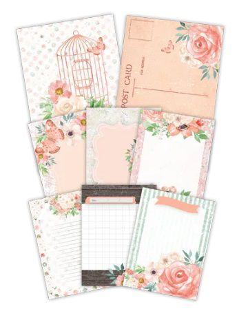 Kit Cards Aurora - Coleção Shabby Dreams - Juju Scrapbook (22949)