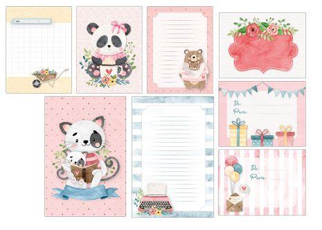Kit Cards Um Presente para Você - Coleção Abraço de Urso - Juju Scrapbook (8599)