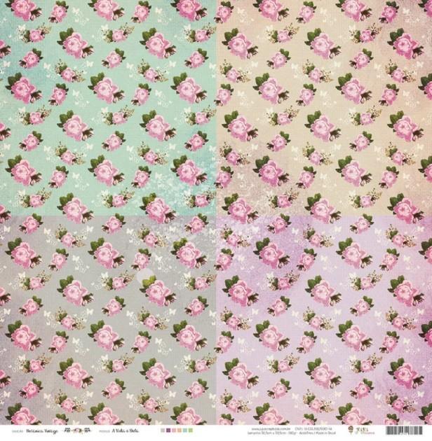Kit Coordenado - Coleção Botânica Vintage - JuJu Scrapbook (4352)