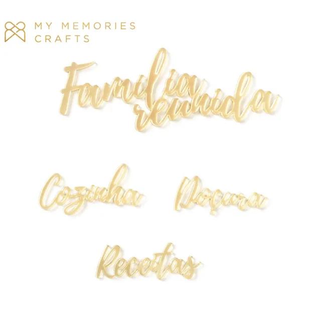 Kit de Palavras Acrílicas Douradas - Coleção My Kitchen - My Memories Crafts (MMCMK-10)