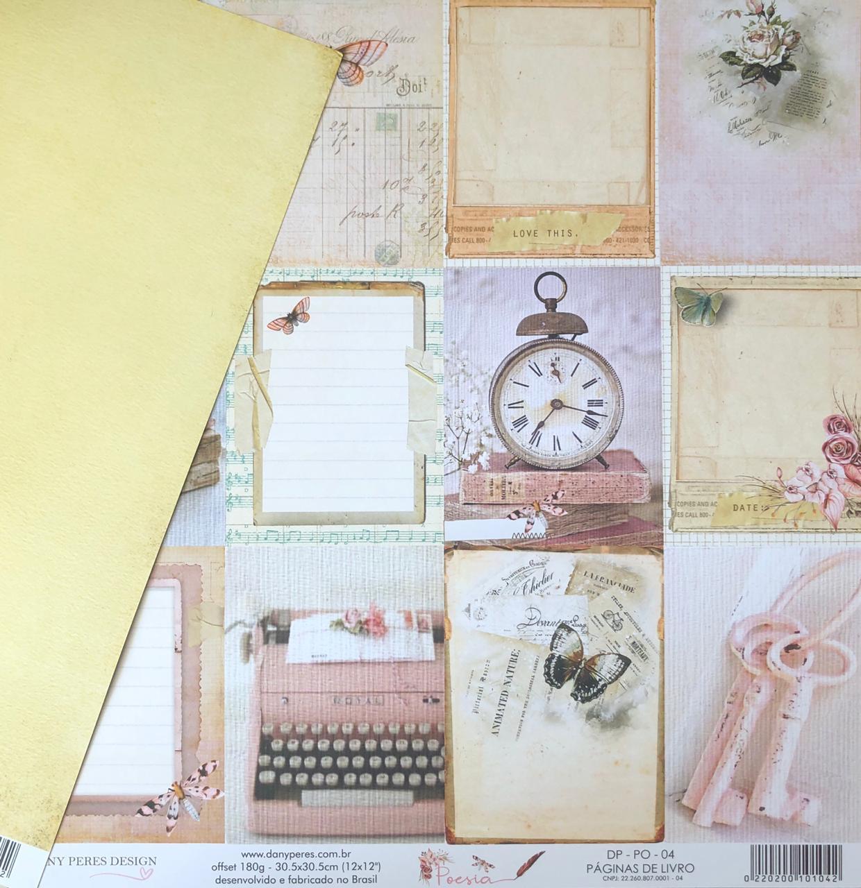 Kit Papéis Coleção Poesia - Dany Peres
