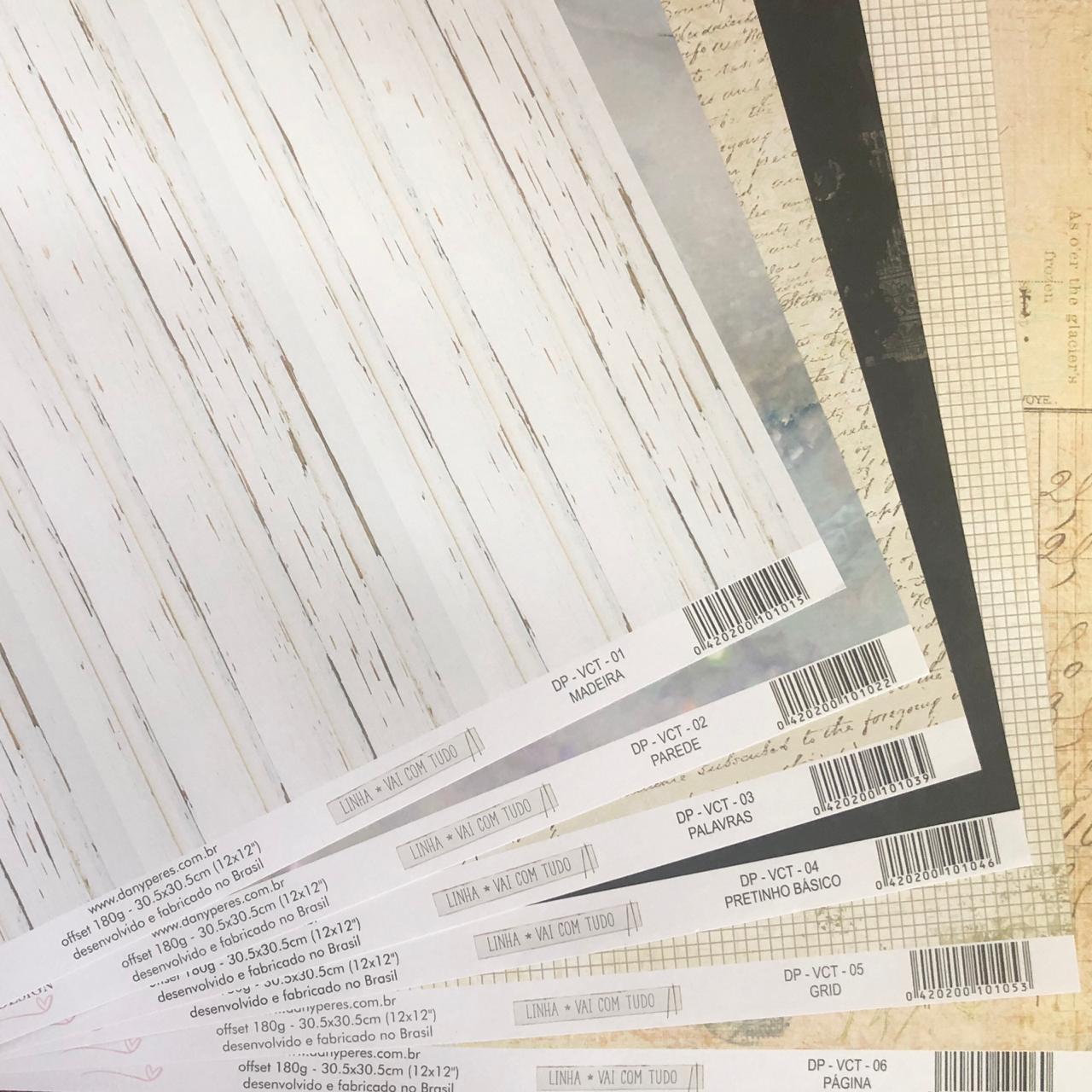 Kit Papéis Coleção Vai com Tudo - Dany Peres