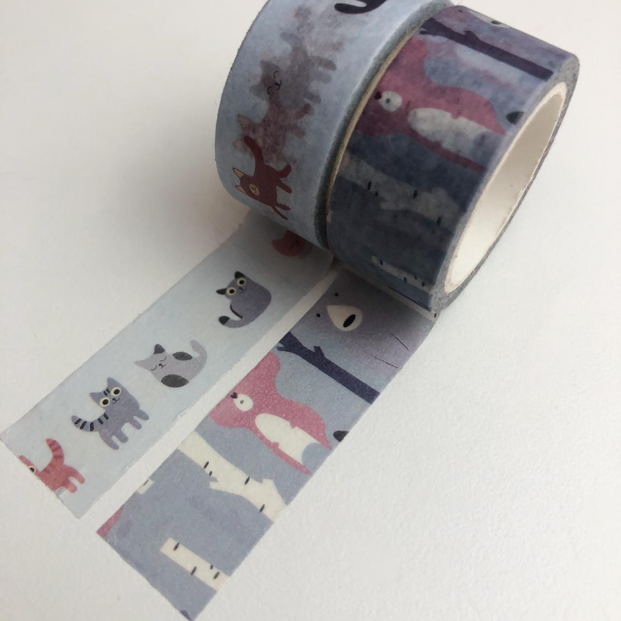 Kit Washi Tapes Bichinhos (washi16)