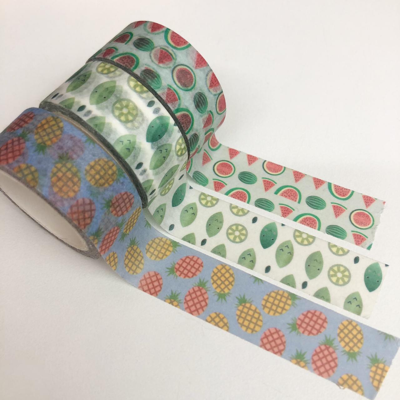 Kit Washi Tapes Frutinhas (washi11)